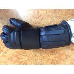 перчатки АНГЛИЙСКИЕ кожаные черные с накладками б/у