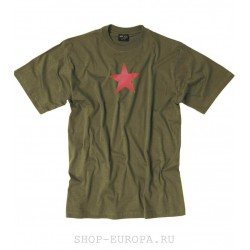 "футболка MIL-TEC  ""RED STAR"" ОЛИВА"
