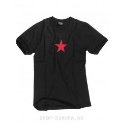 Футболка Mil-Tec Red Star, Чёрная