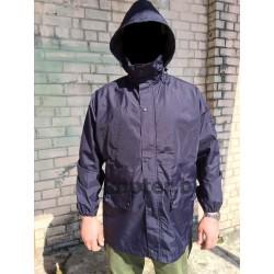 Куртка непромокаемая триламинат Военной академии Saint-Cyr Франция, мембрана GORETEX, Тёмно-синяя, б/у.