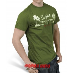 ФУТБОЛКА SURPLUS PALM TEE OLIVE/ОЛИВКОВАЯ