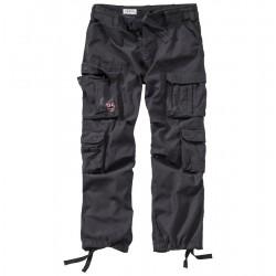 Брюки простиранные Surplus Airborne Vintage Trousers Германия, Чёрный.