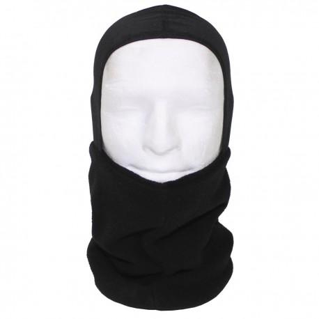 Бафф-шарф с капюшоном. Фисовый. Чёрный.